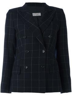 checkered double breasted blazer Alberto Biani