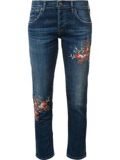 embroidered flower jeans  Citizens Of Humanity