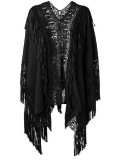 fringed loose-fit cardigan Ralph Lauren Collection