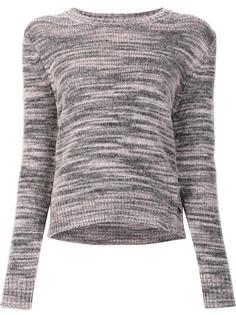 melange cutout knitted top Raquel Allegra