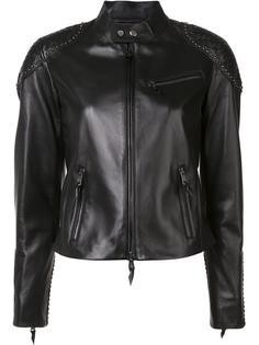 studded shoulders jacket Ralph Lauren Collection