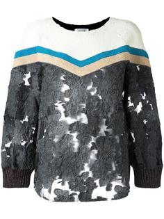 прозрачная блузка с вышивкой Aviù