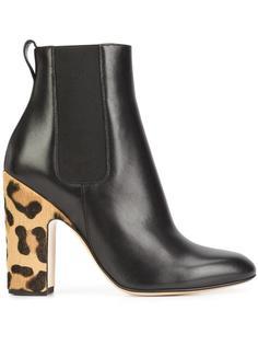 leopard heel boots Francesco Russo