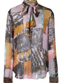 semi sheer blouse Raquel Allegra
