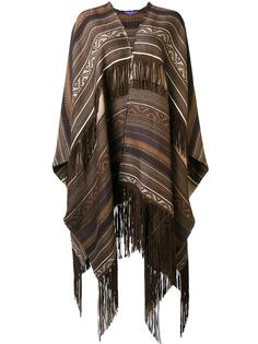 ethnic motif knit poncho Ralph Lauren Collection