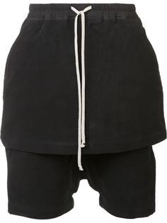 skirt layer short trousers Rick Owens DRKSHDW