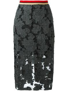 прозрачная юбка миди  Aviù