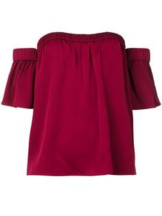 off-shoulders ruffled sleeves blouse Milly