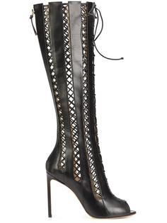 open toe knee-length boots Francesco Russo