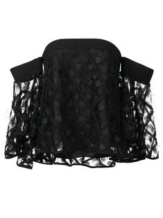 off-shoulders flared sleeves blouse Milly