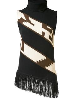 fringed knit blouse Ralph Lauren Collection