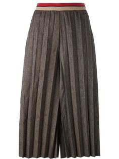 укороченные брюки с плиссировкой Aviù