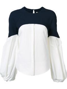 блузка с контрастной панелью Hellessy