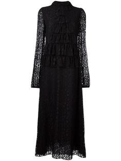 кружевное платье с рюшами Giamba