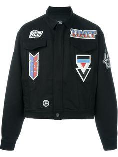 джинсовая куртка с нашивками KTZ