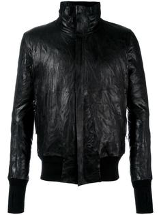 zipped leather jacket  Isaac Sellam Experience