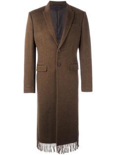 пальто с бахромой на подоле Givenchy