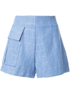 patch pocket striped shorts Manning Cartell