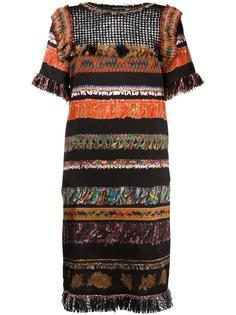 приталенное платье с орнаментом Maurizio Pecoraro