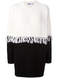 cable knit fringed jumper Steve J & Yoni P