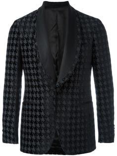 shawl lapel houndstooth blazer Gabriele Pasini