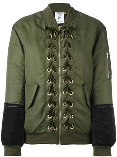 lace-up detailing bomber jacket Steve J & Yoni P
