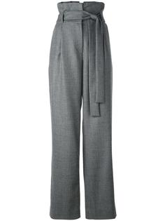 high-rise belted straight trousers Miahatami