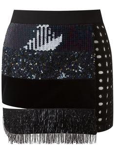 appliqué mini skirt Giuliana Romanno