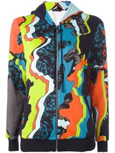 'Jagged Baroque' print hoodie Versace