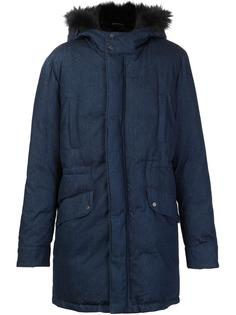 padded fur trim jacket Yves Salomon