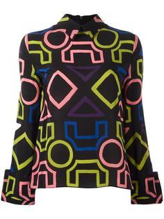 geometric print blouse Emporio Armani
