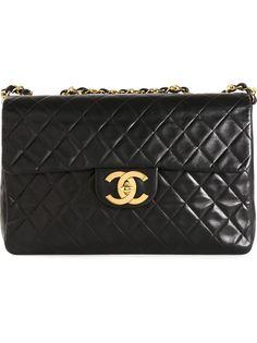 большая сумка с откидным клапаном  Chanel Vintage