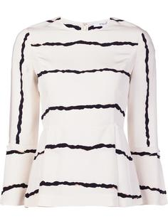 striped bell sleeve blouse Derek Lam 10 Crosby
