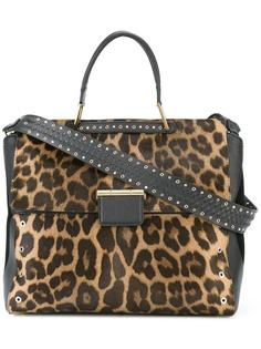 leopard print large tote Furla