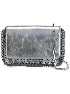 crackled metallic shoulder bag Paco Rabanne