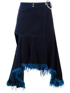 юбка с необработанными краями Marques'almeida
