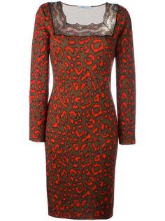 платье с животным принтом Blumarine