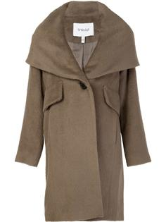 hooded shawl collar coat Derek Lam 10 Crosby