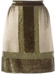 юбка с контрастными кружевными панелями Alberta Ferretti