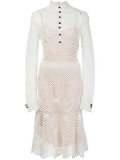 mesh overlay shirt dress Derek Lam