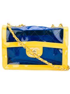двухцветная сумка на плечо Chanel Vintage