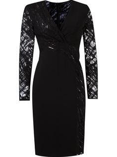 приталенное платье с кружевной отделкой Giuliana Romanno