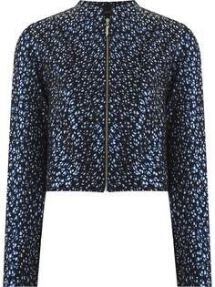 abstract print bomber jacket Giuliana Romanno