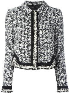 плетеный твидовый пиджак  Giambattista Valli