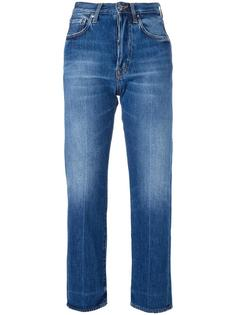 boyfriend cropped jeans +People