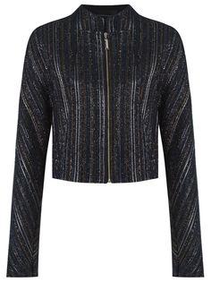 metallic tweed jacket Giuliana Romanno