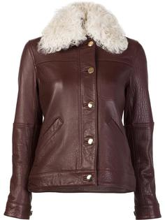 shearling collaar leather jacket Derek Lam 10 Crosby