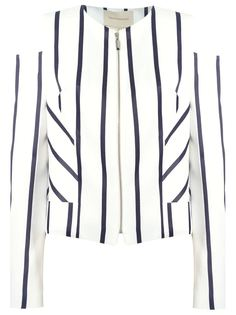 striped panelled blazer Giuliana Romanno