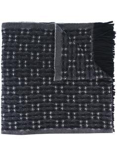 jacquard fringed scarf Al Duca D'Aosta 1902