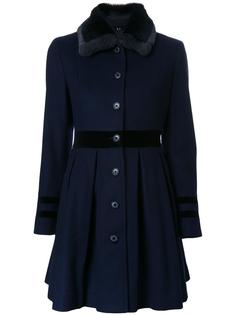 pleated fitted coat Loveless